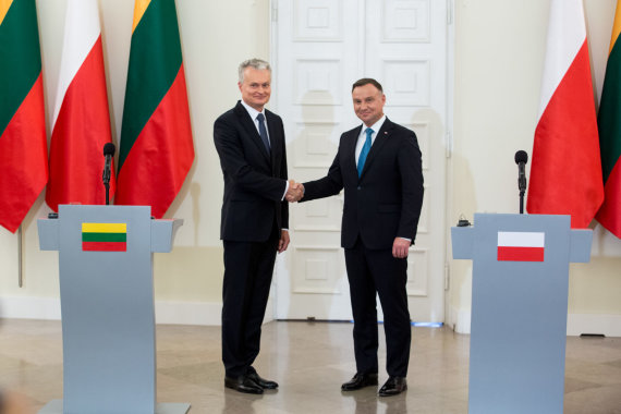 Juliaus Kalinsko / 15min nuotr./Gitanas Nausėda ir Andrzejus Duda