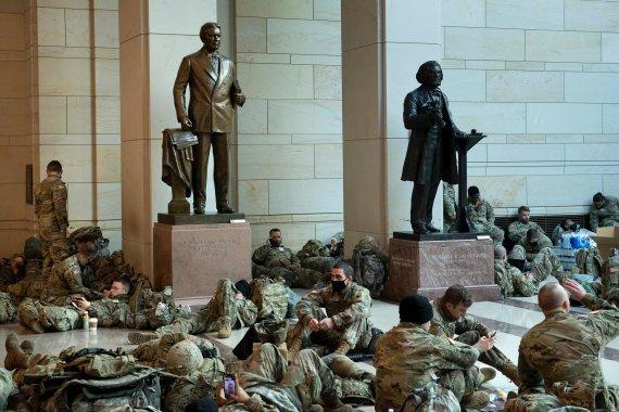 """""""Scanpix"""" nuotr./JAV Kapitolijuje dislokuota Nacionalinė gvardija"""