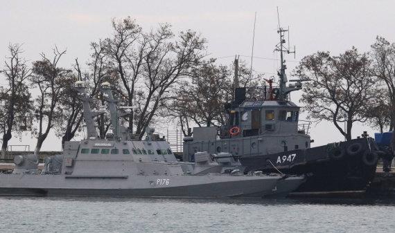 """""""Reuters""""/""""Scanpix"""" nuotr./Perimti Ukrainos laivai Kerčės uoste"""
