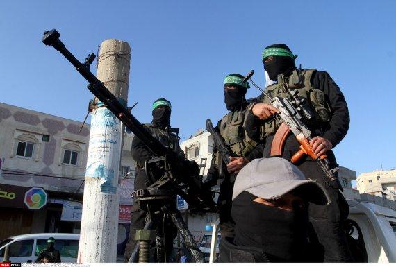 """""""Scanpix""""/""""SIPA"""" nuotr./""""Hamas"""" kovotojai Gazos Ruože"""