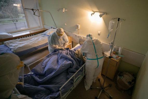 Sauliaus Žiūros nuotr./COVID-19 skyrius Vilniaus miesto klinikinėje ligoninėje