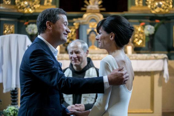 Juliaus Kalinsko / 15min nuotr./Pauliaus Senūtos ir Viktorijos Rumiancevaitės vestuvių akimirka