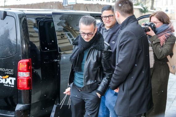 """Luko Balandžio / 15min nuotr./Dave'as Gahanas su """"Depeche Mode"""" atvyko į Vilnių"""