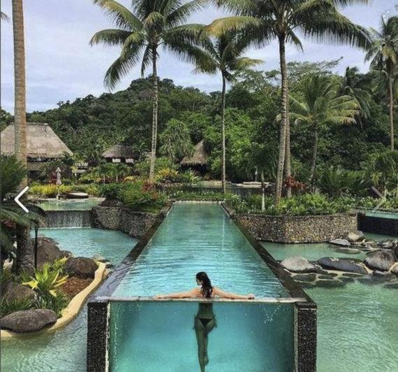 Vida Press nuotr./Sala Fidžyje, kur medaus mėnesį leido Miranda Kerr ir milijardierius Evanas Spiegelis