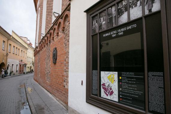 Žygimanto Gedvilos / 15min nuotr./Vilniaus geto atminimo lenta