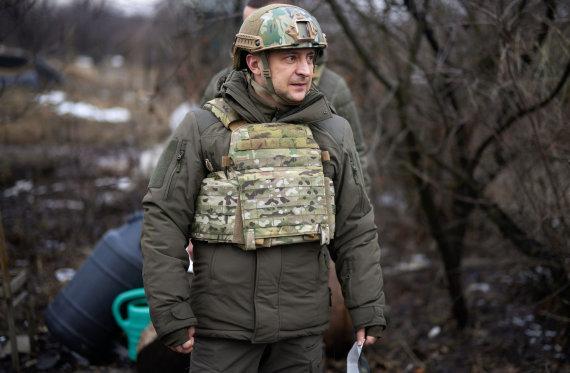 """AFP/""""Scanpix"""" nuotr./Volodymyras Zelenskis Donbase"""