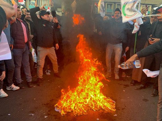 """Scanpix""/AP nuotr./Bagdade užpulta JAV ambasada"