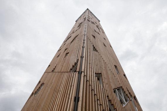 Mariaus Vizbaro / 15min nuotr./Birštone atidarytas aukščiausias Lietuvos apžvalgos bokštas