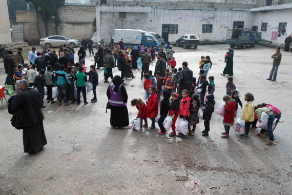 "AFP/""Scanpix"" nuotr./Pabėgėliai Idlibe"