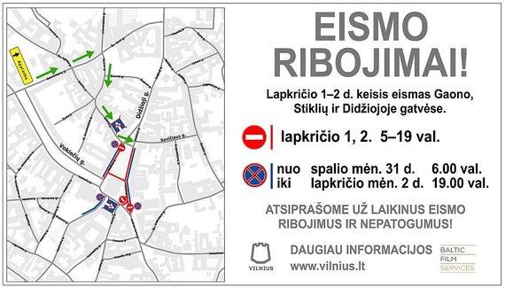Vilniaus m. savivaldybės žemėlapis/Eismo apribojimai