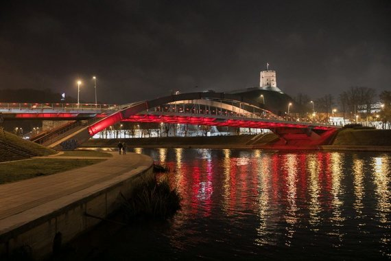 City of Vilnius Photo of the municipality. / Kalalius Bridge Mindaugas