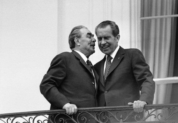 """Scanpix""/AP nuotr./Leonido Brežnevo ir Richardo Nixono susitikimas (1973 m.)"