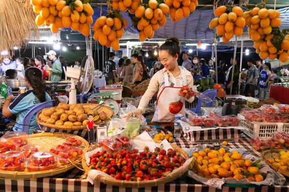 """""""Scanpix"""" nuotr./Maisto festivalis Vientiane (2021 m. vasaris)"""