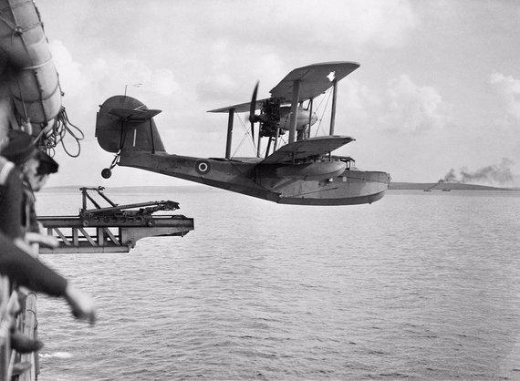 """Imperijos karo muziejaus/Wikimedia.org nuotr./Hidroplanas """"Supermarine Walrus"""""""