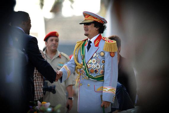 """AFP/""""Scanpix"""" nuotr./Muamaras Kadhafi"""