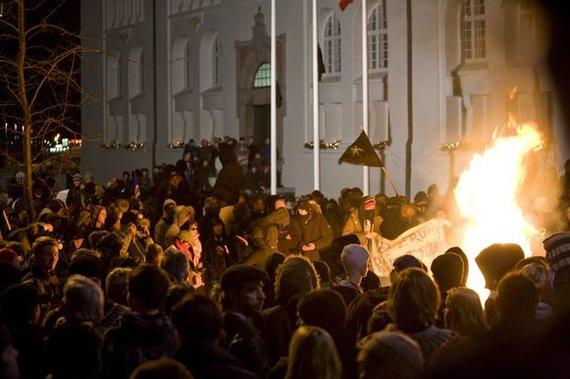 """""""Reuters""""/""""Scanpix"""" nuotr./Susirėmimai Islandijoje 2009 metais"""