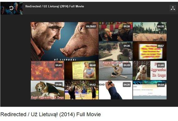 """Stop kadras/Internete nemokamai galima parsisiųsti filmą """"Redirected / Už Lietuvą!""""."""