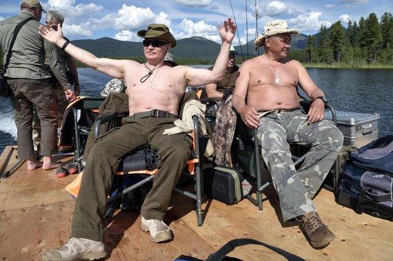 """AFP/""""Scanpix"""" nuotr./V.Putino atostogos Pietų Sibire"""