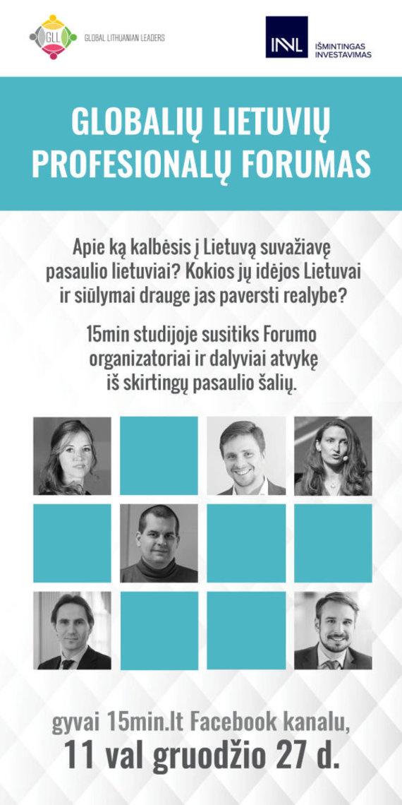 Organizatorių nuotr. /Globalių lietuvių profesionalų forumas