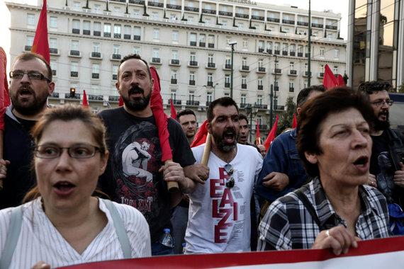 """Scanpix""/AP nuotr./Protestas Graikijoje"