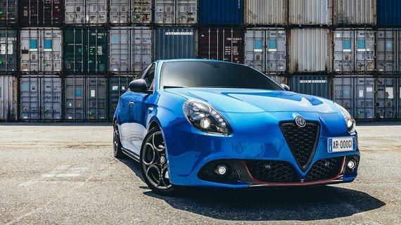 Painting of the sportsman / Alfa Romeo Giulietta Sport