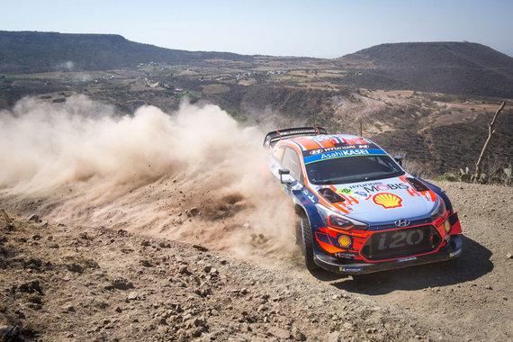 """Organizatorių nuotr./Rally Estonia dalyvaus ir WRC pilotas A.Mikkelsenas iš """"Hyundai Motorsport"""""""