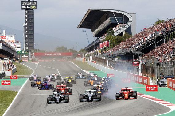 """""""Scanpix"""" nuotr./""""Formulė 1"""" Barselonoje"""