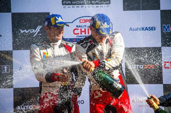 """""""Scanpix"""" nuotr./WRC Čilės etape nugalėjo Ottas Tanakas"""