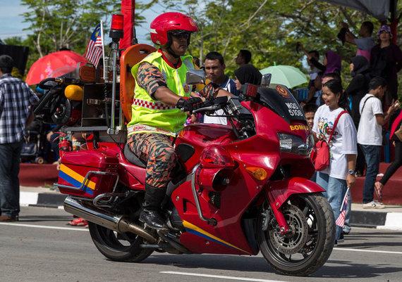 Malaizijos ugniagesių motociklas. (Uwe Aranas, Wikimedia(CC BY-SA 3.0)