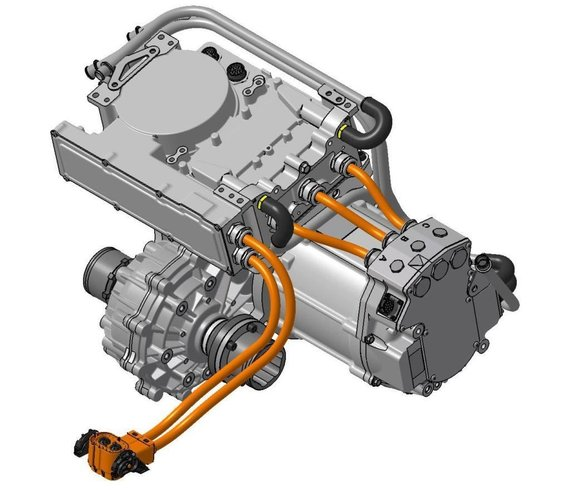Swindon Powertrain HPD modulis svers tik 70 kg ir turės kelis tvirtinimo taškus, kad jį sumontuoti būtų kiek įmanoma lengviau. (Swindon Powertrain atvaizdas)