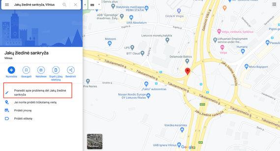 Google Maps iliustr./Jakų žiedas Vilniuje (praneškite klaidą)
