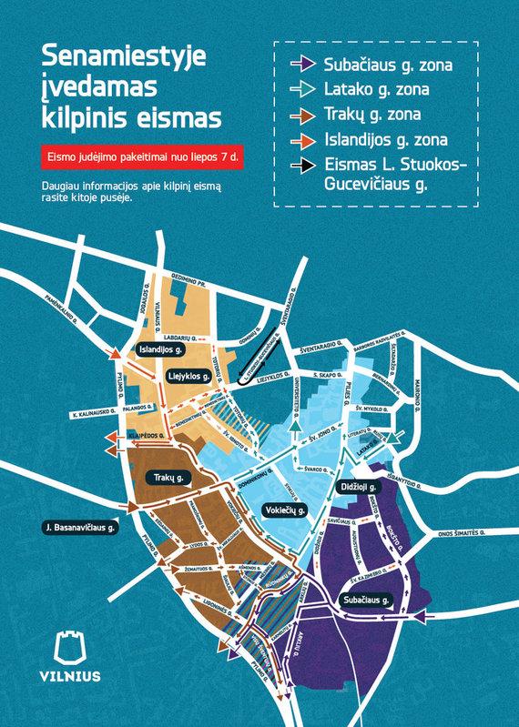 Vilniaus savivaldybės nuotr./Kilpinis eismas Vilniaus senamiestyje