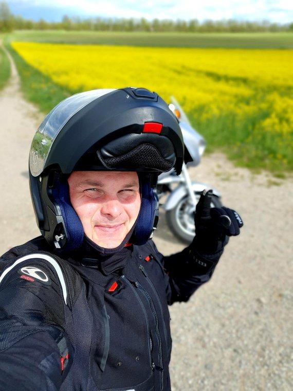 Asmeninio archyvo nuotr./Giedrius Leškevičius ir jo aistra motociklams
