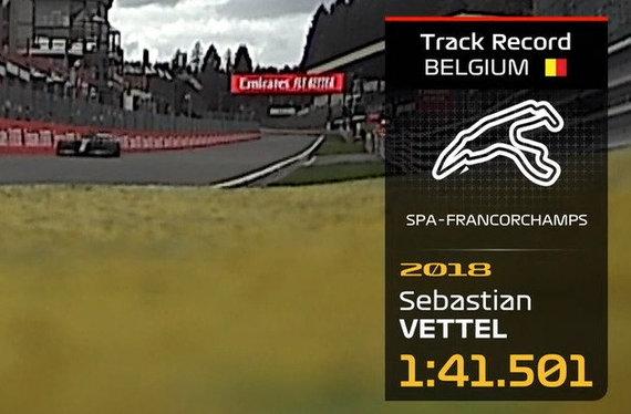 F1 Spa trasos rekordas