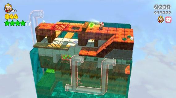 """Žaidimo kūrėjų iliustr./Žaidime pasitaikys ir lygių, kuriuos paprastai sutinkame kituose garsiuose """"Nintendo"""" žaidimuose. Atpažįstate?"""