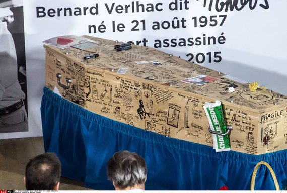 """""""Scanpix""""/""""SIPA"""" nuotr./Bernardas Verlhacas (Tignous), """"Charlie Hebdo"""" karikatūrų kūrėjas, bus palaidotas ornamentais ir karikatūromis puoštame karste"""