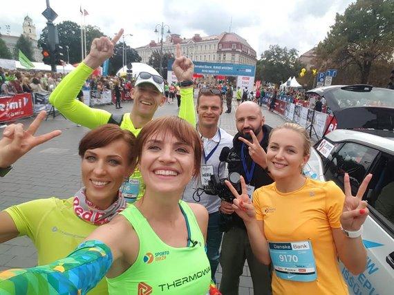 Sporto biržos nuotr./Interaktyvus bėgimas su Vlada Musvydaite