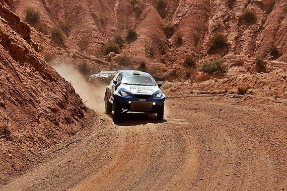 """Tomo Markelevičiaus nuotr./""""Agrorodeo"""" ekipažas Dakaro ralyje"""