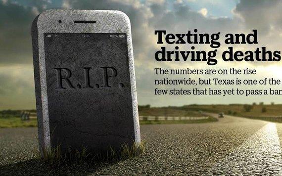 Socialinė reklama, įspėjanti apie žinučių rašymo pavojų vairuojant