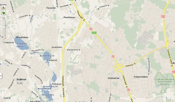 Maps.lt/Vilniaus vakarinis aplinkkelis maps.lt žemėlapyje