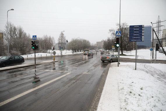 SĮ Susisiekimo paslaugos nuotr./Kalvarijų-Kazlausko g. sankryža