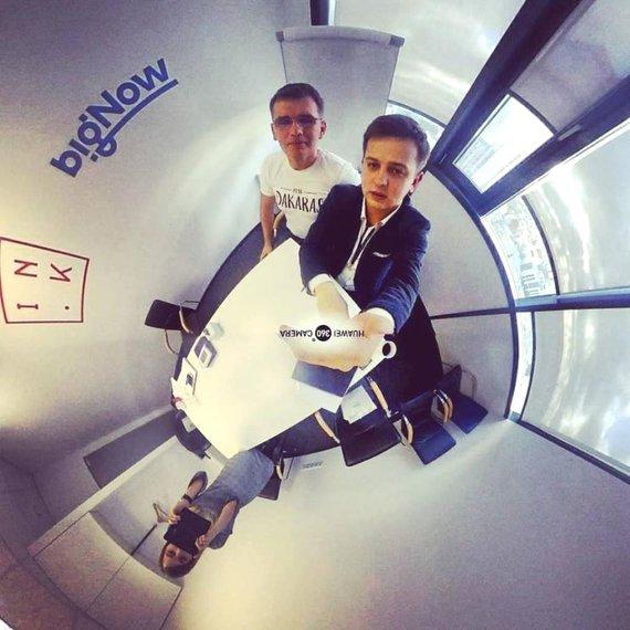 """Ž.Pekarsko/HuaweiMate10Pro nuotr./Mobiliosios fotografijos mokymai su """"Huawei"""" specialistu Audriumi Granicku"""