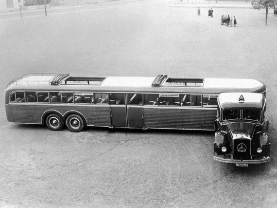 Trucker.lt arch. nuotr./Mercedes Benz Kässbohrer Grossraum Sattelbus