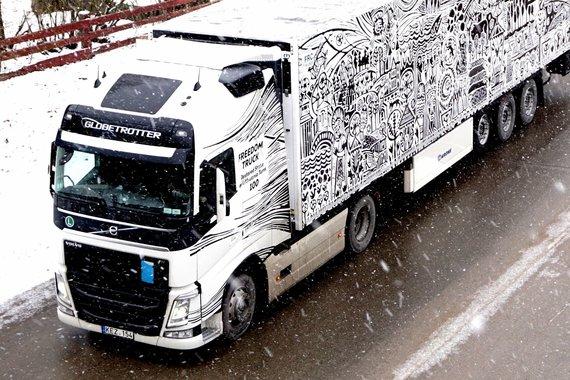 """""""Via Genero"""" nuotr./ Lietuvos Laisvės vilkikas (""""Freedom Truck"""")"""
