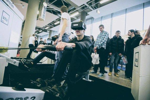 Robotiados nuotr./KTU VR irklavimas