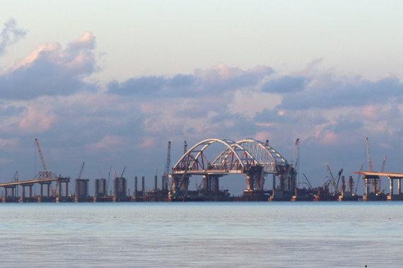 """""""Scanpix"""" nuotr./Statomas tiltas į Krymą"""