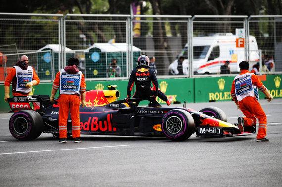 """""""Scanpix"""" nuotr./""""Formulės 1"""" lenktynės Azerbaidžane, M.Verstappenas"""