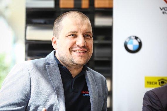 """Egidijaus Babelio nuotr./""""BMW Mototurizmo sprinto"""" spaudos konferencija"""