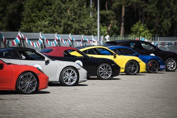 "Porsche nuotr./""Porsche"" 70-mečiui skirtas renginys Bikerniekuose"