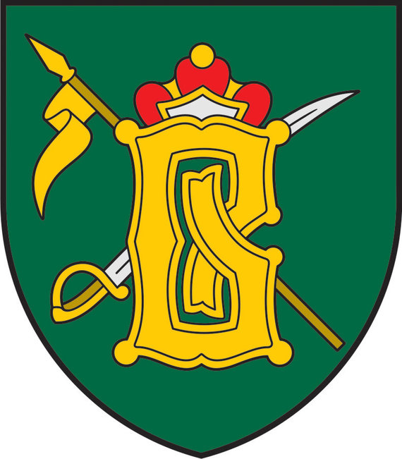 Lietuvos kariuomenės nuotr./Didžiosios kunigaikštienės Birutės ulonų bataliono tarnybos ženklas